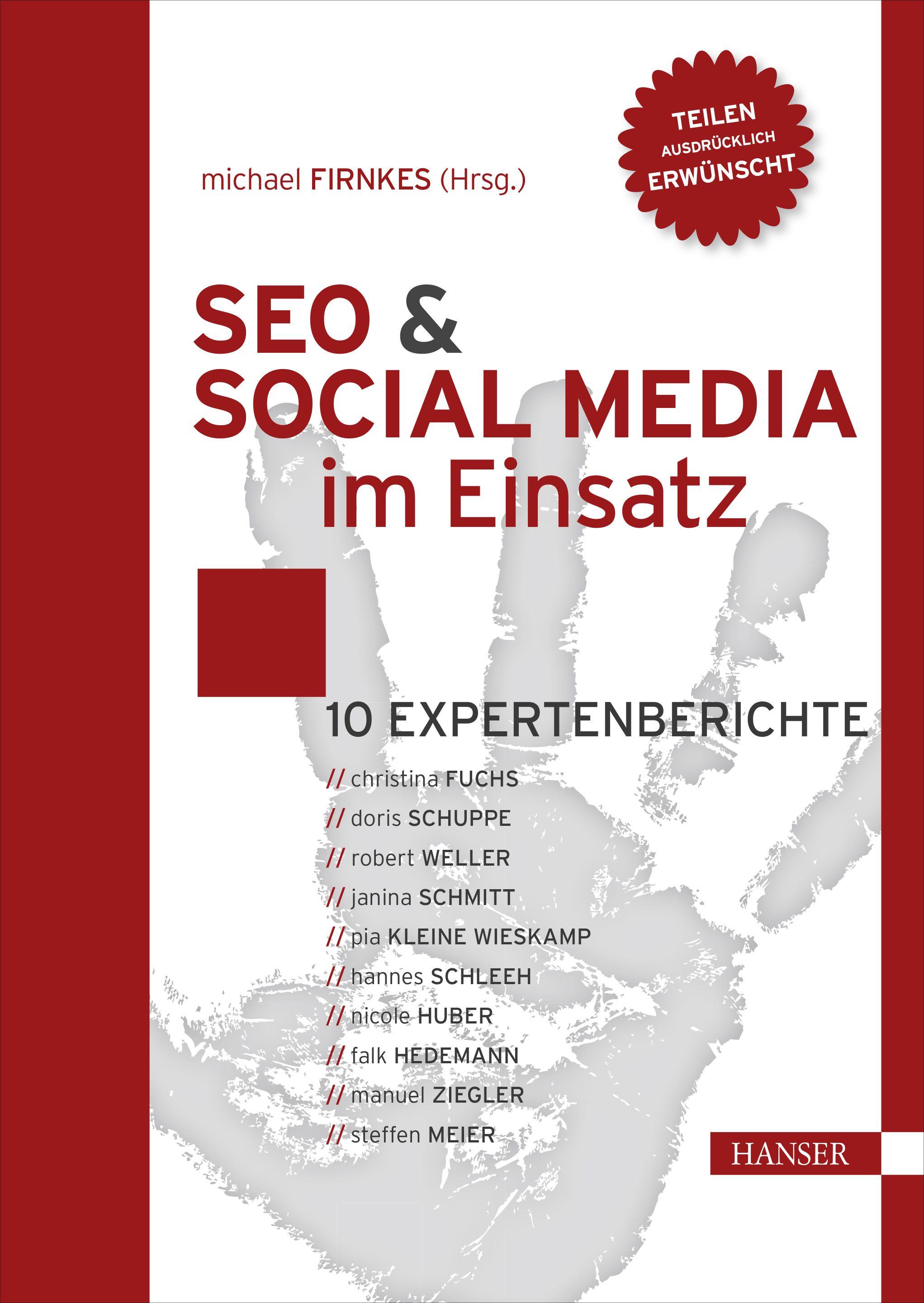 """Umschlag E-Book """"Firnkes Seo und Social Media im Einsatz"""" (Quelle: Hansa Fachbuchverlag)"""