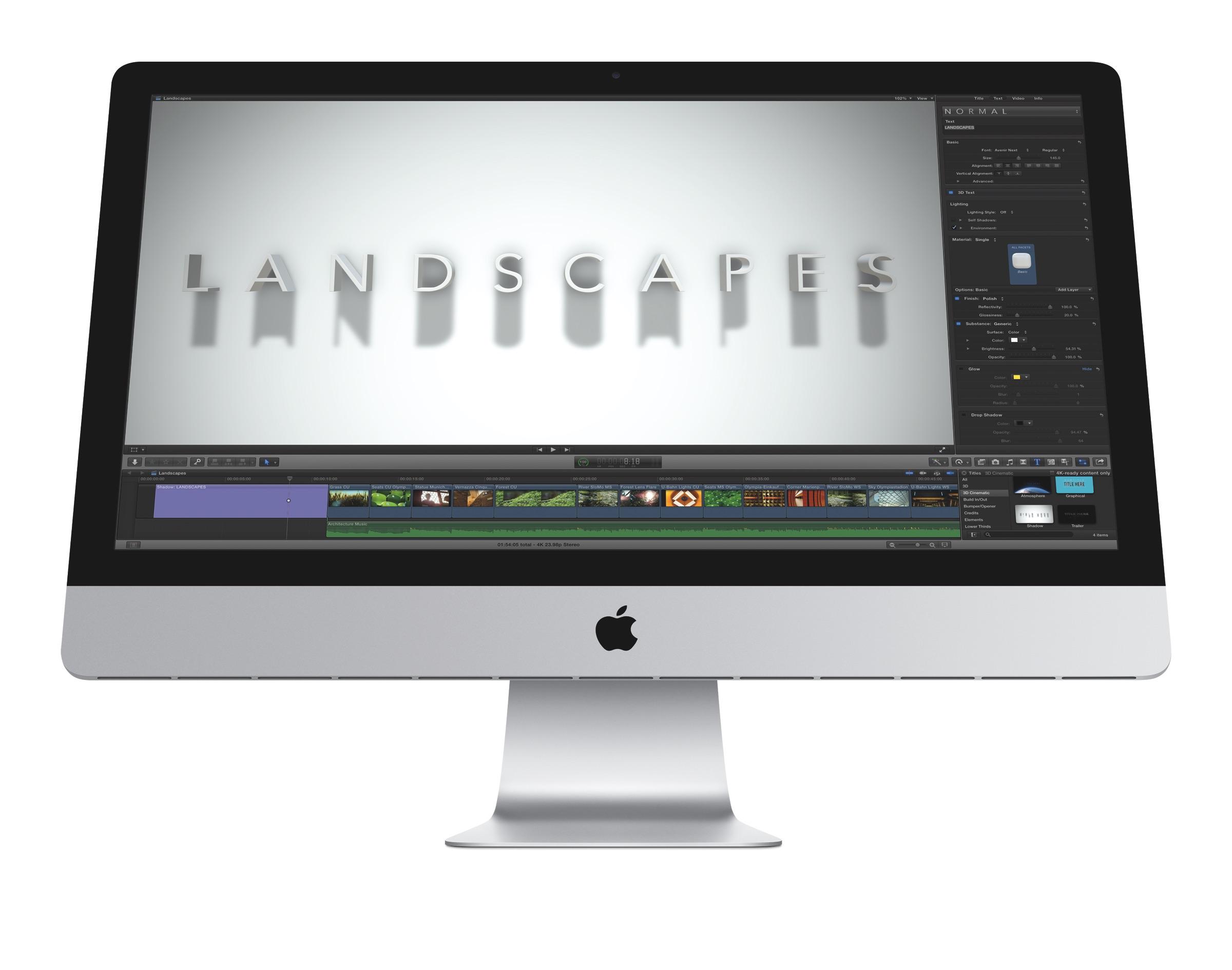 Final Cut Pro X 10.2 bringt 3D-Texte