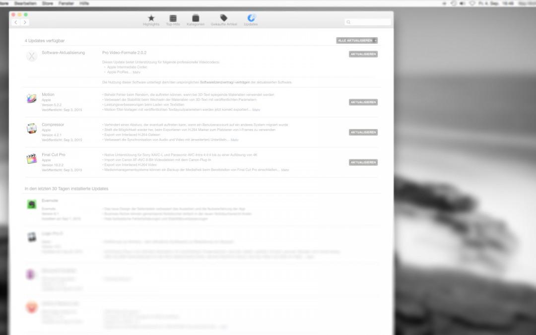 Final Cut Pro X 10.2.2 Update – Detailverbesserung und Bugfix