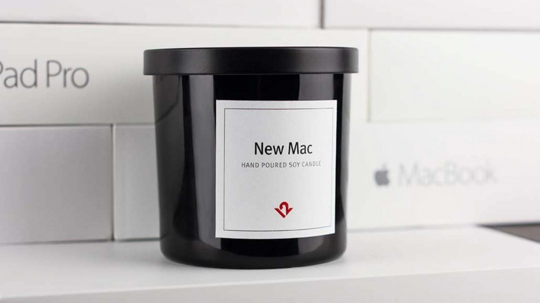 "Kerzenduft ""Neuer Mac"" (Bild: Twelve South)"