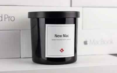 """Duftkerze """"Neuer Mac"""""""