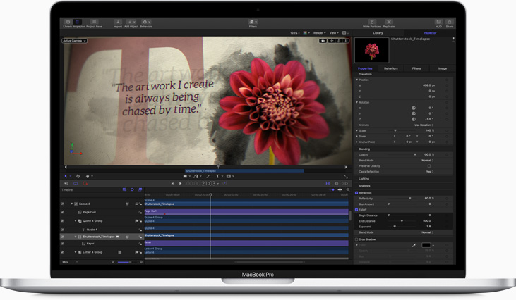 Integration Motion Grafik in FCP X (Bild: Apple)