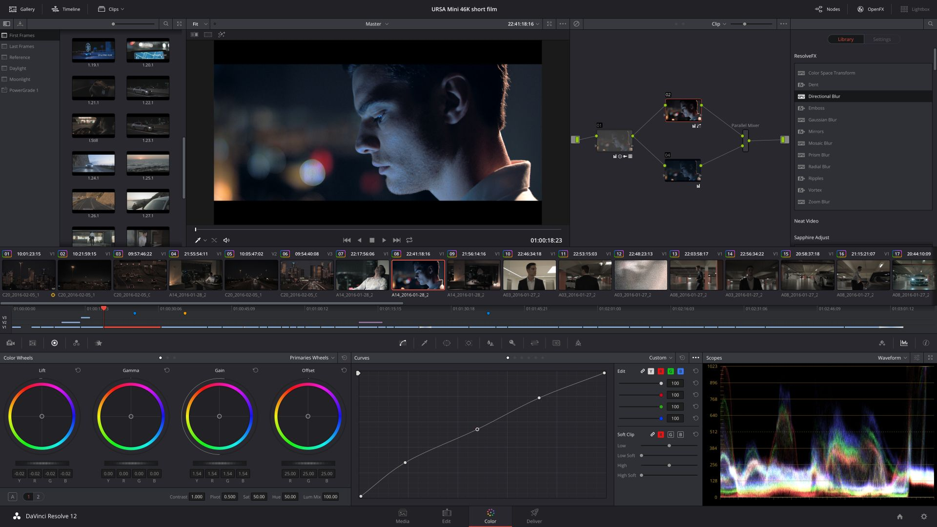 DaVinci Resolve 12.5 Colour-Grading (Bild: Blackmagic Design)